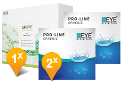 EyeDefinition Pro-Line Spheric & SENSITIVE Promo Pack