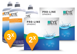 EyeDefinition Pro-Line Spheric & Soft Peroxide Solution Promo Pack