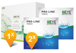EyeDefinition Pro-Line Toric & Sensitive Plus MPS Promo Pack