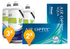 Air Optix Aqua & Sensitive Plus Promo Pack