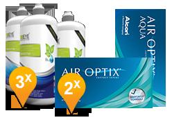Air Optix Aqua & Sensitive Plus Promo Pack