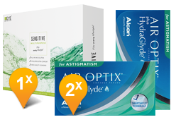 Air Optix HydraGlyde Astigmatism & EyeDefinition SENSITIVE Promo Pack