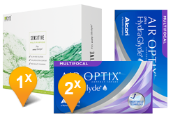 Air Optix Multifocal & EyeDefinition Sensitive Plus MPS Promo Pack