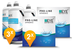 EyeDefinition Pro-Line Spheric & Pro-Vitamin B5 MPS Promo Pack