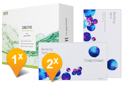 Biofinity Toric & Sensitive Plus Promo Pack