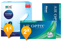 Air Optix Astigmatism & Eyedefinition Extrasept Promo Pack