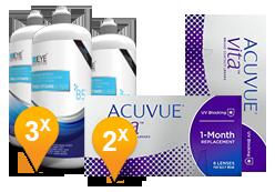 Acuvue Vita & EyeDefinition Pro-Vitamin B5 MPS Promo Pack