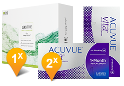 Acuvue Vita & EyeDefinition Sensitive Plus MPS Promo Pack