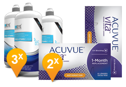 ACUVUE® VITA™ for Astigmatism & EyeDefinition Pro-Vitamin B5 MPS Promo Pack
