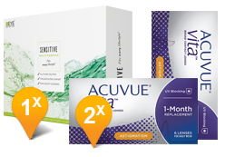 Acuvue Vita for Astigmatism & EyeDefinition Sensitive Plus MPS Promo Pack