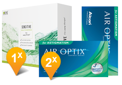 Air Optix Astigmatism & Eyedefinition SENSTIVE Promo Pack